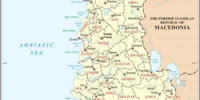 Albanija Karti Grada Karta Albanije Sa Gradovima Juzna Europa