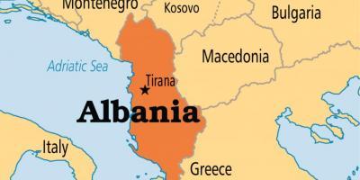 saranda karta Albanija karta   karte Albanije (Južna Europa   Europa) saranda karta
